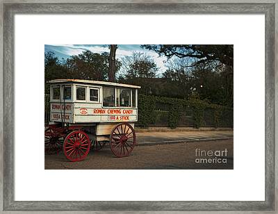 Roman Candy Wagon New Orleans Framed Print by Kathleen K Parker
