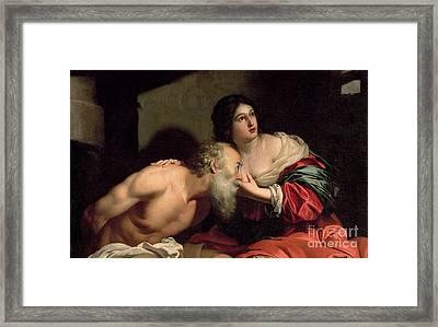 Roman Charity Framed Print by Nicolas Regnier