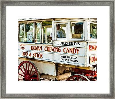 Roman Chewing Candy Nola Framed Print by Kathleen K Parker