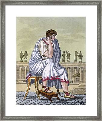 Roman Citizen, A Folio From Lantique Framed Print