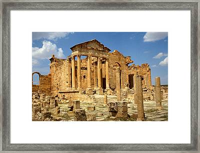 Roman City Of Sbeitla, Tunisia Photo Framed Print by .