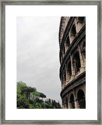 Framed Print featuring the photograph Roman Coliseum by Tiffany Erdman