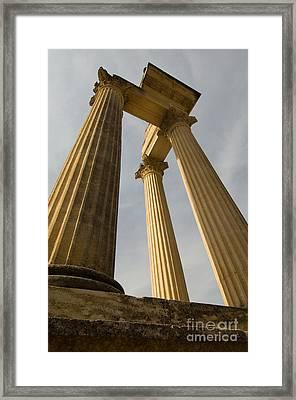 Roman Columns, Glanum, France Framed Print