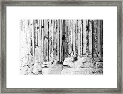 Roman Columns Framed Print