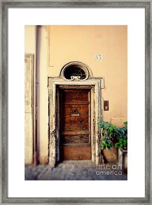 Roman Door Framed Print