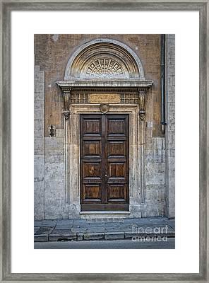 Roman Doors Framed Print by Antony McAulay