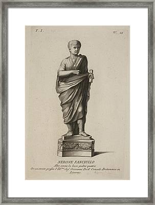 Roman Empreror Nero Framed Print