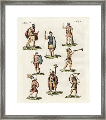 Roman Foot Soldiers Framed Print