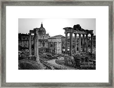 Roman Forum At Sunrise Framed Print by Anthony Festa