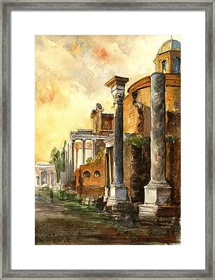 Roman Forum Framed Print by Juan  Bosco