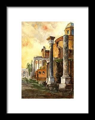Roman Ancient Framed Prints