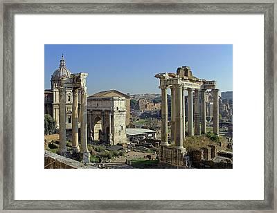 Roman Forum  Framed Print by Tony Murtagh
