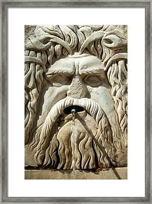 Roman Fountain High Relief, Carthage Framed Print by Nico Tondini