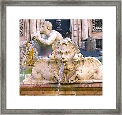 Roman Fountain Framed Print