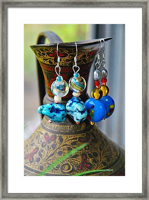 Roman Inspired Earrings  Framed Print by ARTography by Pamela Smale Williams