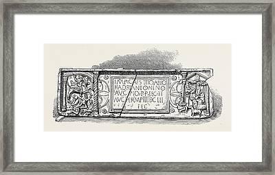 Roman Legionary Tablet Found At Bridgeness Linlithgowshire Framed Print