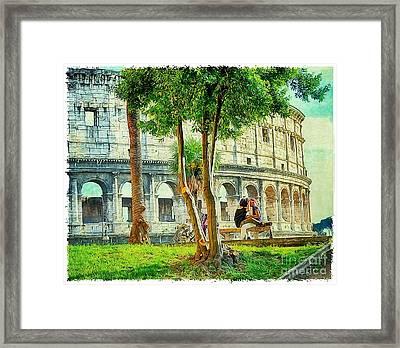 Roman Lovers Framed Print by Stefano Senise