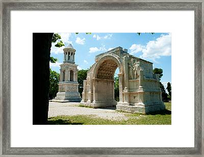 Roman Mausoleum And Triumphal Arch Framed Print by Panoramic Images