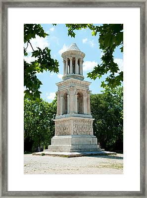 Roman Mausoleum At Glanum Framed Print by Panoramic Images