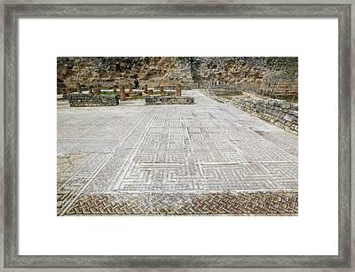 Roman Mosaic Floors Framed Print by Ashley Cooper
