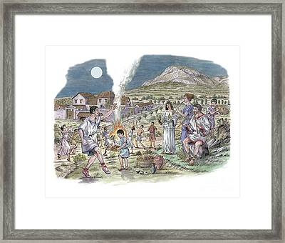 Roman Music And Dance, Artwork Framed Print by Luis Montanya/marta Montanya/sciencephotolibrary