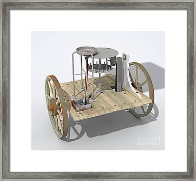Roman Odometer, Artwork Framed Print by Jose Antonio Pe??as