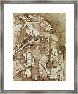 Roman Prison Framed Print by Giovanni Battista Piranesi