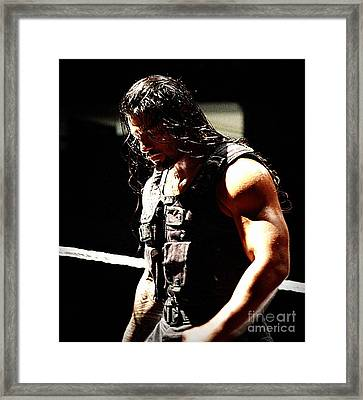 Roman Reigns Framed Print