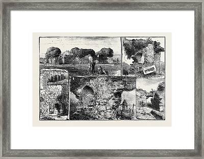 Roman Remains At Walls Castle Framed Print