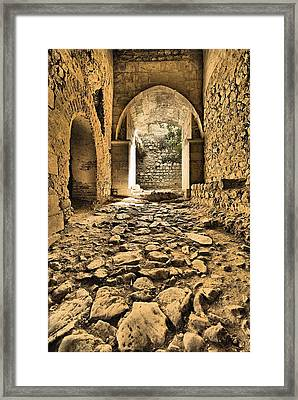 Roman Road Framed Print by David Letts