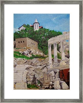 Roman Stadium In Plovdiv Framed Print