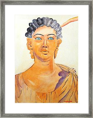 Roman Statue Coming Alive  Framed Print