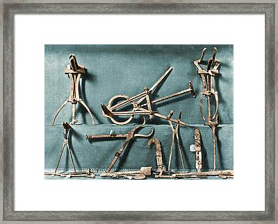 Roman Surgical Instruments, 1st Century Framed Print by Science Source