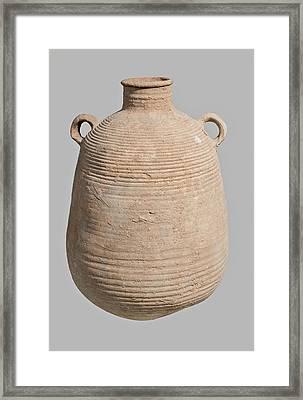 Roman Terra-cotta Storage Jar Framed Print by Photostock-israel