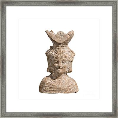 Roman Terracotta Censer Framed Print by Ilan Amihai