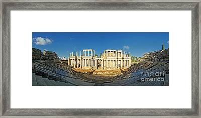 roman theatre in Merida Framed Print by Rudi Prott
