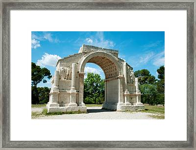 Roman Triumphal Arch At Glanum Framed Print by Panoramic Images