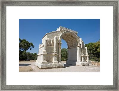 Roman Triumphal Arch, Glanum, France Framed Print by Adam Sylvester
