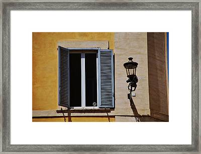 Roman Window Framed Print by Dany Lison