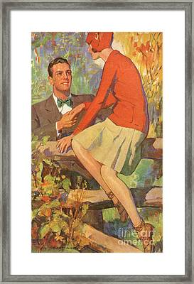 Romance 1920s Usa Manners Chivalry Framed Print by The Advertising Archives