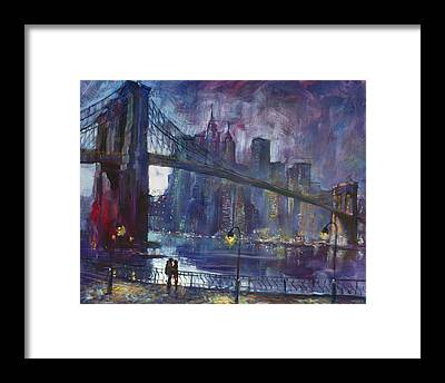 Manhattan Framed Prints
