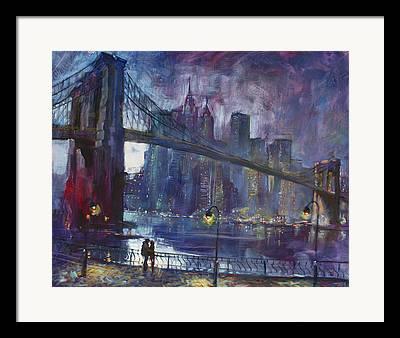 Bridges Paintings Framed Prints