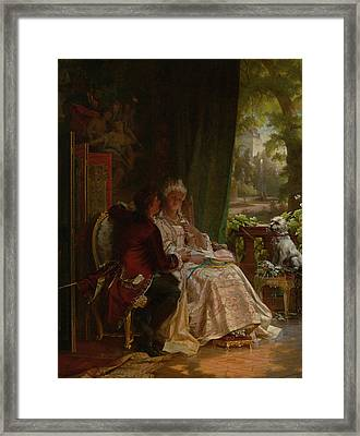 Romance Framed Print by Carl Herpfer