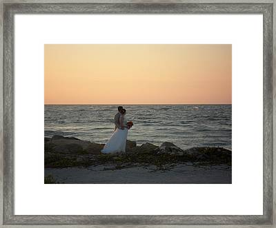 Romance In Captiva Framed Print
