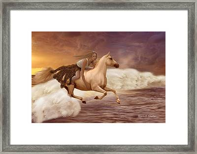 Romance In Her Dream Framed Print by Angela A Stanton