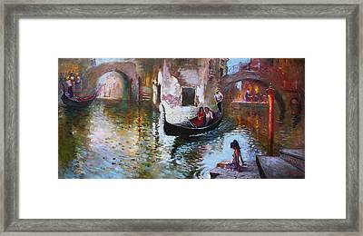 Romance In Venice 2013 Framed Print by Ylli Haruni