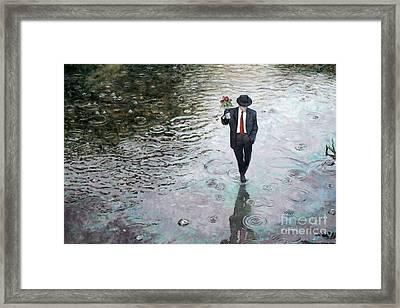 Romance Isn't Dead Framed Print by Theo Michael