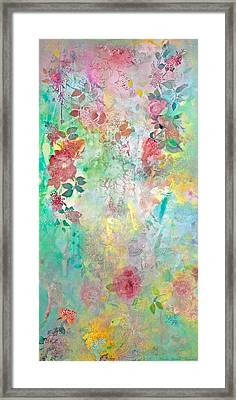 Framed Print featuring the painting Romance Me - Acrylic On Canvas by Brooks Garten Hauschild