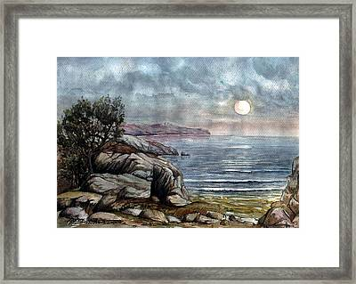 Framed Print featuring the painting Romance by Mikhail Savchenko