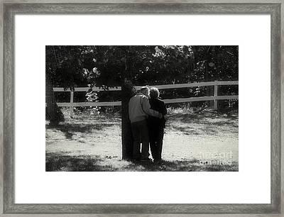 Romance Never Dies Framed Print by Peggy Franz